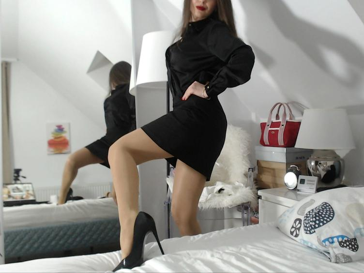 I`m a fetish model & dominatrix, so obviously I`m turned on by lots of different fetishes;) Sliding my legs into stockings & slipping my feet into a pair of stiletto heels is like foreplay for me! I love playing with different textures also. Nothing gets me wetter than feeling satin, cotton, or latex (my favourite!) brushing against my skin while I`m being felt up. I specialize in a more intimate show, preferring to get to know clients and meeting their unique needs. I`m a professional dominatrix & fetish model who adores using my powers of seduction to give you your fetish fix