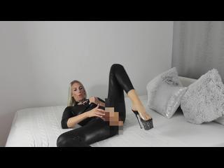 Blond, High-Heels, Pussy, Selbstbefriedigung, Solo, Latex, Sperma, Wichsanleitung